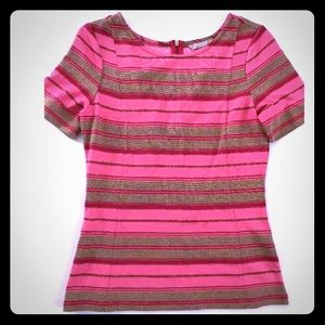 5/$20 Banana Republic 4 Pink Gold fitted top
